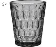 Vasos resistentes con relieve Optic, 6 uds.