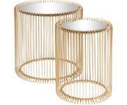 Set de mesas de centroWire, 2pzas., tablero de cristal