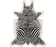 Alfombra artesanal de lana Savanna Zebra