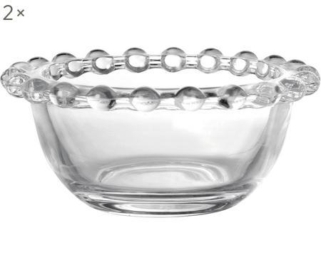 Cuencos pequeños de vidrio Perles, 2uds.