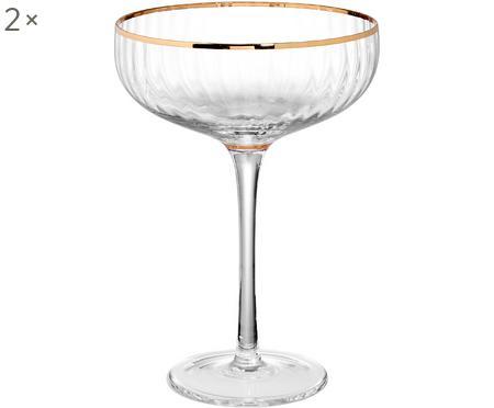 Copas pompadour de champán Golden Twenties, 2uds.