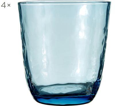 Vasos de vidrio soplado artesanalmente Hammered, 4uds.