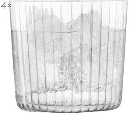 Vasos de vidrio soplado artesanlamente Gio, 4uds.