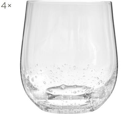 Vasos de vidrio soplado artesanalmente con burbujas Bubble, 4uds.