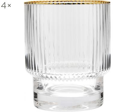 Vasos con relieve Minna, 4 uds.