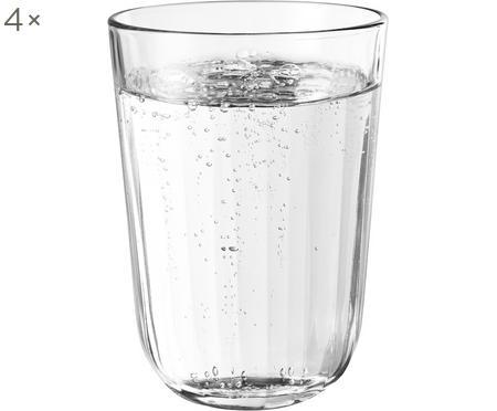 Vasos termo de vidrio templado Facette, 4uds.