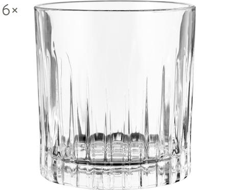 Vasos old fashioned de cristal con relive Timeless, 6uds.