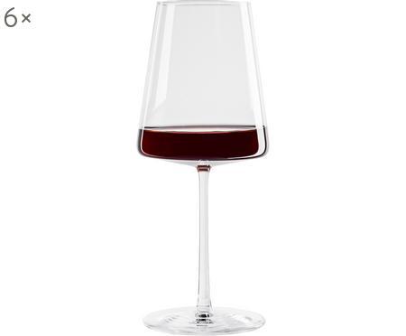 Copas de vino tinto de cristal Power, 6uds.