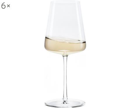 Copas de vino blanco de cristal Power, 6uds.