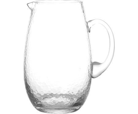Jarra de vidrio soplado Hammered, 2L