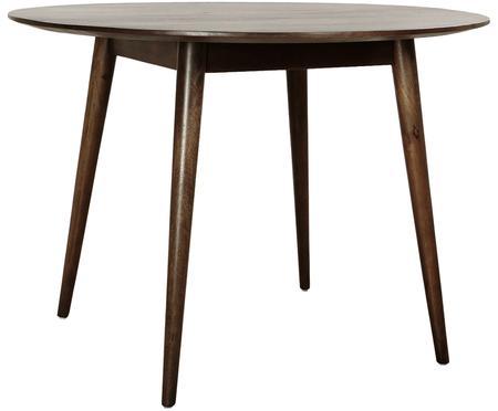 Mesa de comedor redonda de madera maciza Oscar