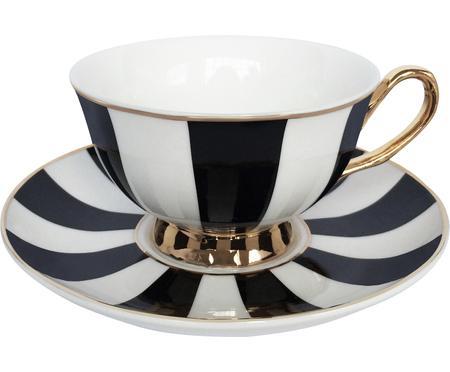 Taza de té con platito Stripy