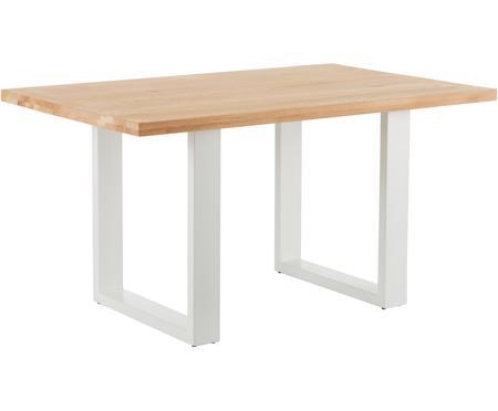 Mesa de comedor Oliver, tablero de madera maciza