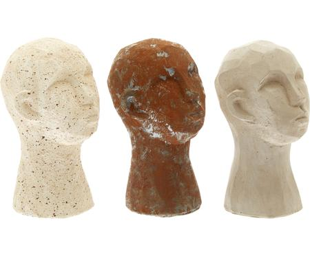 Set de figuras decorativas Figure Head, 3 pzas.