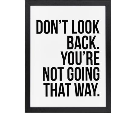 Impresión digital enmarcada Don´t Look Back
