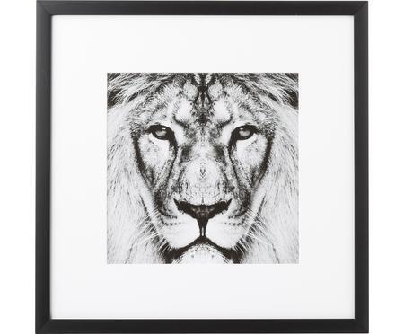 Impresión digital enmarcada Lion Close Up