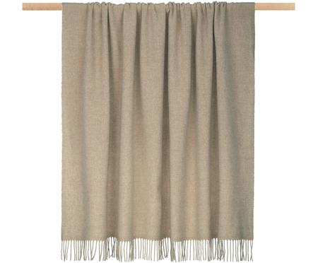Manta de lana ligera con flecos Patriciu