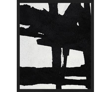 Impresión digital enmarcada Abstract Black
