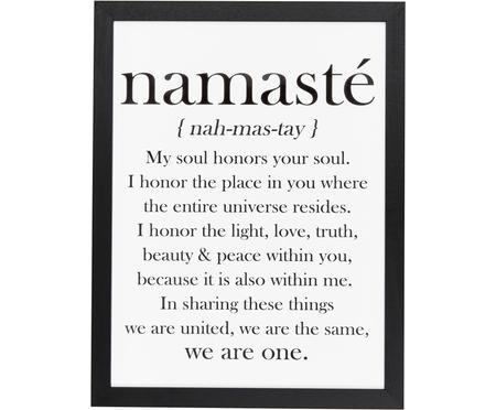 Impresión digital enmarcada Namasté