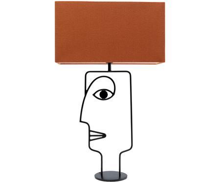 Lámpara de mesa grande Face Orange