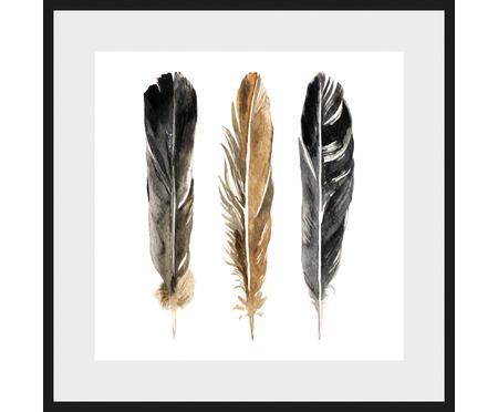 Impresión digital enmarcada Three Feathers
