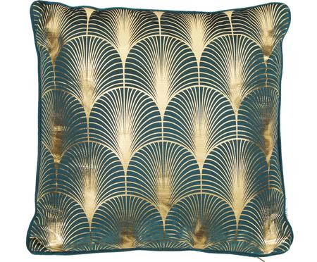 Cojín de terciopelo Whety, estilo Art Deco, con relleno