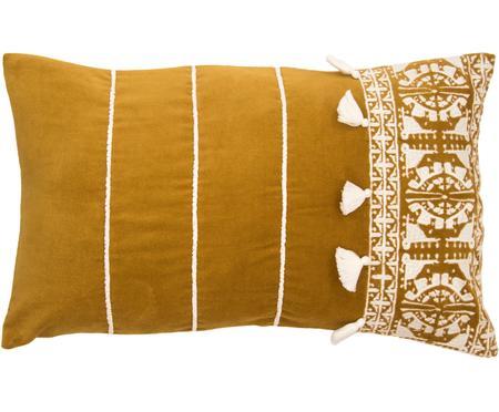 Funda de cojín bordada con borlas Neo Berbère