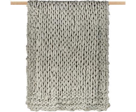 Manta pequeña de punto de lana Fern