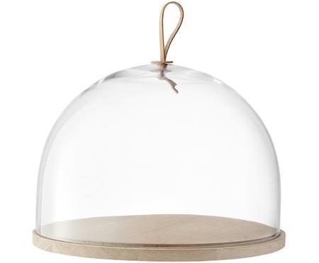 Campana quesera artesanal de vidrio y madera Cloche Ivalo