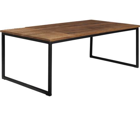 Mesa de centro de madera Randi, estilo industrial