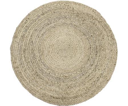 Alfombra redonda artesanal de yute Sharmila