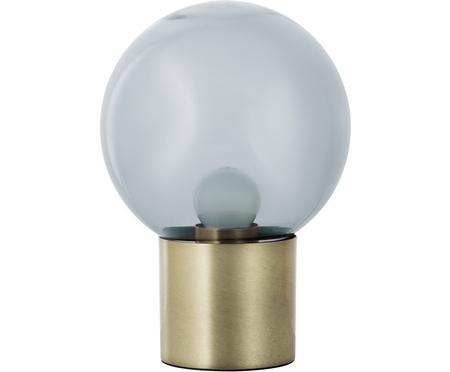 Lámpara de mesa pequeña de vidrio Lark, estilo retro