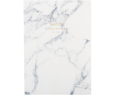 Cuaderno White Marble