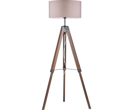 Lámpara de pie tripode de nogal Josey