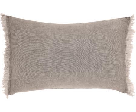 Cojín de lino con flecos Levelin, con relleno