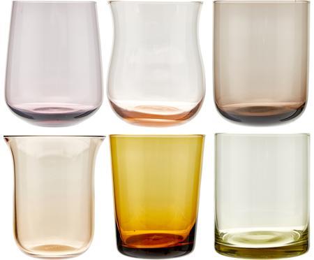 Vasos de vidrio soplado artesanalmente Desigual, 6uds.