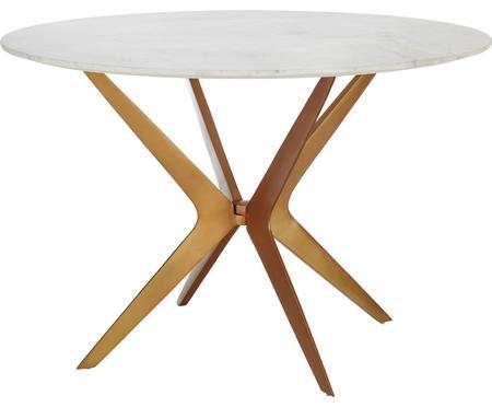 Mesa de comedor redonda de mármol Safia