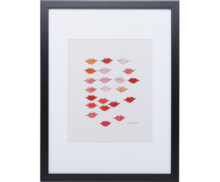 Impresión digital enmarcada Kiss