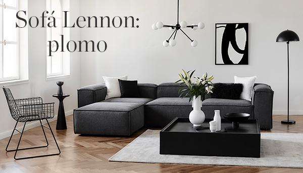 Sofá Lennon: plomo