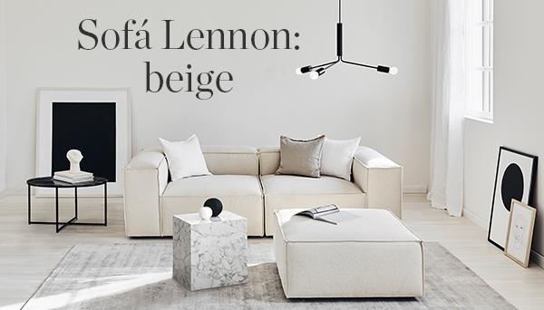 Sofá Lennon: beige