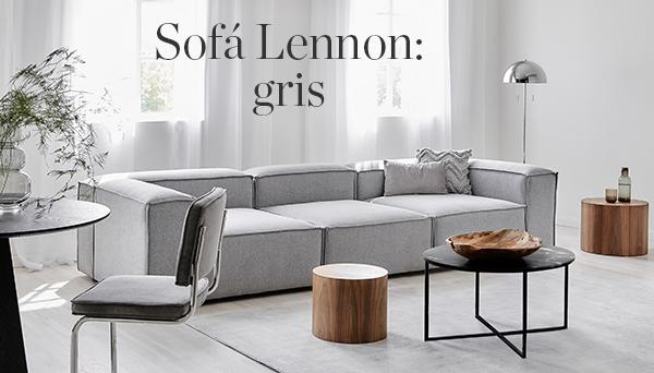 Sofá Lennon: gris