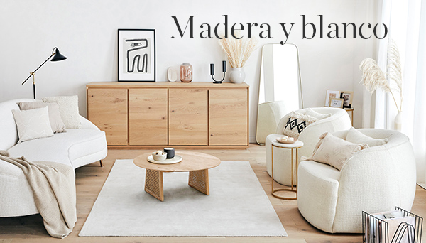 Madera y blanco